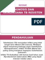 [Slide] Referat TB Resisten