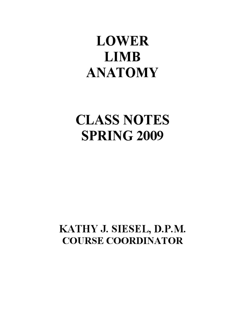 Lower Limb Anatomy Class Notes | Anatomical Terms Of Motion | Nail ...