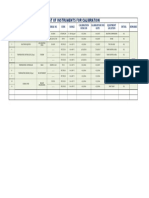 Onsite Clibration List