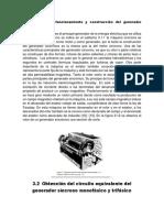3.1 Principio de funcionamiento y construcción del generador sincrónico.