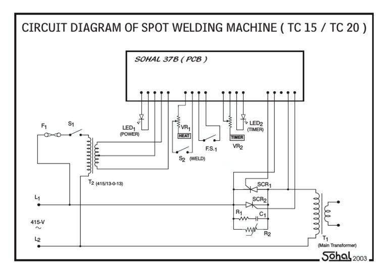 Spot Welding Circuit Diagram | Repair Manual on