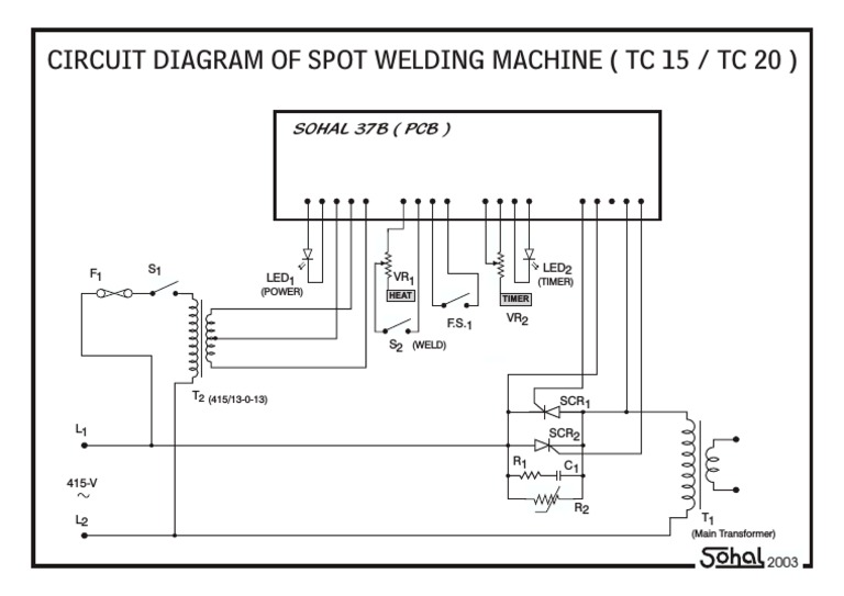 circuit diagram of spot welding machine (tc15tc20) pdf TIG Welder Circuit Diagram