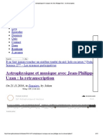 """Astrophysique Et Musique Avec Jean-Philippe Uzan - La Retranscription"""""""
