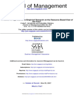 Armstrong a Review of Approaches to Empirical Research in the RBV of the Firm