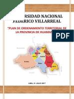 Plan de Ordenamiento Territorial de La Provincia de Huamanga