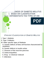 Etiopathogenesis of Diabetes Mellitus