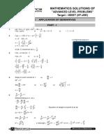 ALP Solutions Application of Derivatives Maths Eng JEE al