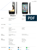 Tabel Comparativ iPhone