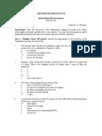 Midterm Examination III 520 F-2005 Key