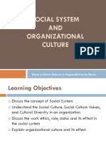 Presentation -Social Systems and Organizational Culture