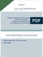 Pengenalan Alat-Alat Meteorologi
