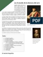 Métodos Usados en El Estudio de La Historia Del Arte