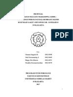 Proposal Magang Rso Dr Soeharso Surakarta 2017
