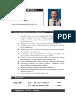 Eng. Thaer Khalil CV