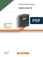 Sepam 20- User Manual