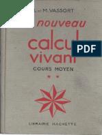 Vassort Le Nouveau Calcul Vivant Cours INCOMPLET