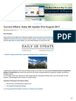 Bankersadda.com-Current Affairs Daily GK Update 01st August 2017
