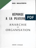 Anarchie Et Organisation