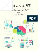 Para Jumbles for Cat PDF Set-1