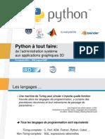 Python a Tout Faire Fni