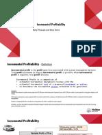incremental profitability presentation wil