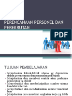 Perencanaan Personel Dan Perekrutan