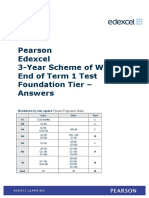 3-Year SoW End of Term 1 Foundation Test Answers