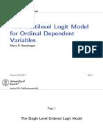 The Multilevel Logit Model for Ordinal Dependent Variables Steenbergen