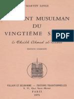 M. Lings - Un Saint Musulman Du Vingtème Siècle