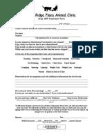 Drop-Off Treatment Form