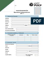 Ficha de Inscripción 2017-I