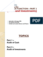 OPAUD M11 - Finance Function Audit (Part 3)