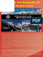 Wilderness First Responder, W-EMT Module Course