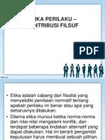 Etika Profesi - Kontribusi Filsuf