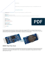 Arduino DS3231 Real Time Clock Module
