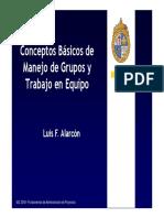 Conceptos básicos de Manejo de Grupos y Trabajo en Equipo Clase 6 FAP