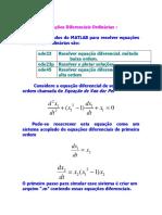 Equações Diferenciais - simuções