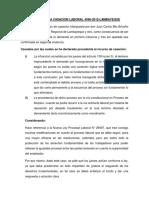 Analisis de La Casacion Laboral 4596