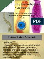 Tema 17 Enterobiosis, Himenolepiosis y Dipilidiosis