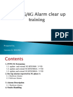 3G Training_alarms Clean Up & Guide for Cable Installation