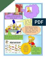 Comprension de Textos Los Simpsons y el futbol