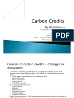 Presentation on Carbon Credits - Nidhi Bothra