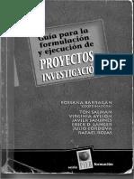 Barragán 2007 Proyectos