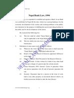 Nepal Bank Law 1994 b s