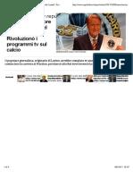 Morto Aldo Biscardi, inventore del 'Processo del Lunedì'. Rivoluzionò i programmi tv sul calcio - Repubblica.it