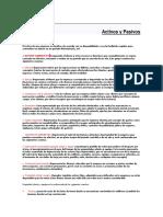 Activos y Pasivos de Contabilidad