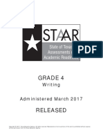 Staar g4 2017 Test Writ f