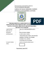 Informe de Proyección en Santa Catalina 1