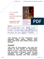 Lives of the Prophets of the Old Testament