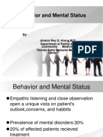 Behavior and Mental Status